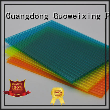 Wholesale single roofing polycarbonate hollow sheet GWX Brand