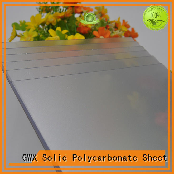 GWX anti-scratch frosted plastic sheets factory direct for garden house