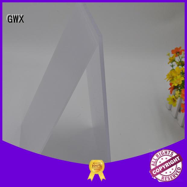 polycarbonate sheet size width polycarbonate sheet price GWX Brand