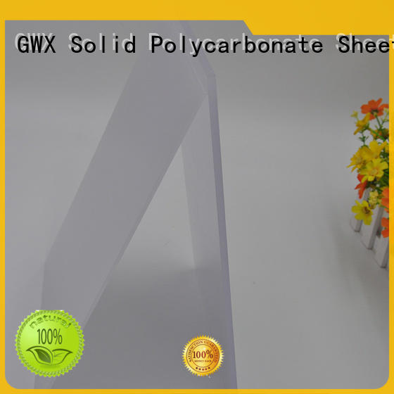 GWX hot selling light diffusion polycarbonate sheet manufacturer for Gazebo