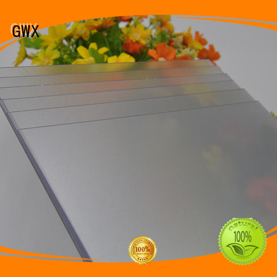 frosted polycarbonate sheet barrier surface frosted acrylic sheet GWX Brand