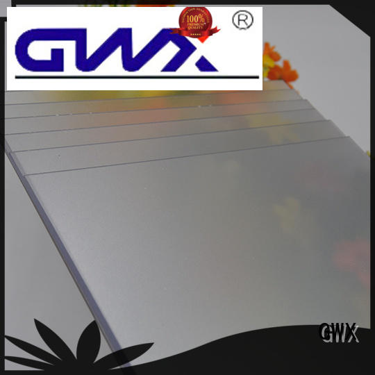 GWX transparent frosted lexan wholesale for wall barrier