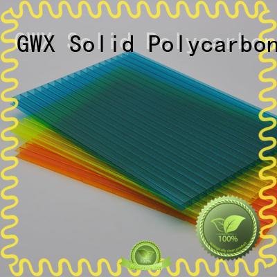 GWX uv protective polycarbonate pc sheet factory direct for Gazebo