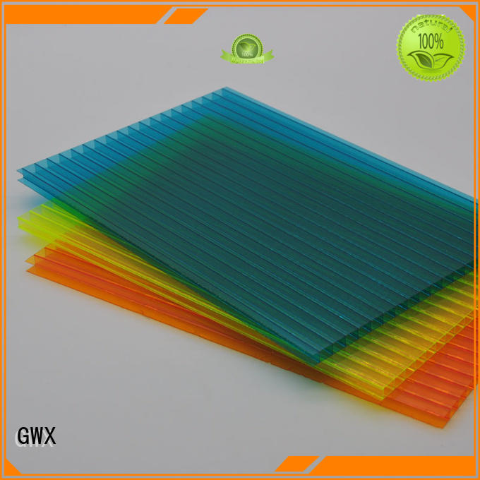 GWX Brand swimming sheets polycarbonate hollow sheet manufacture