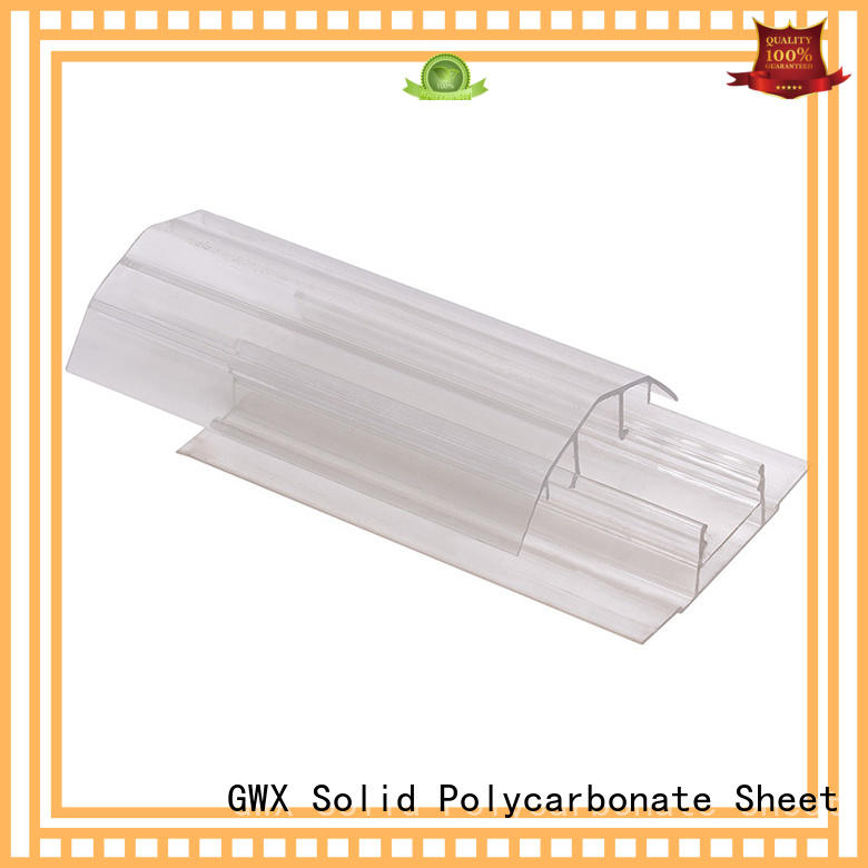 convenient polycarbonate sheet end caps bayer raw material factory price for connection