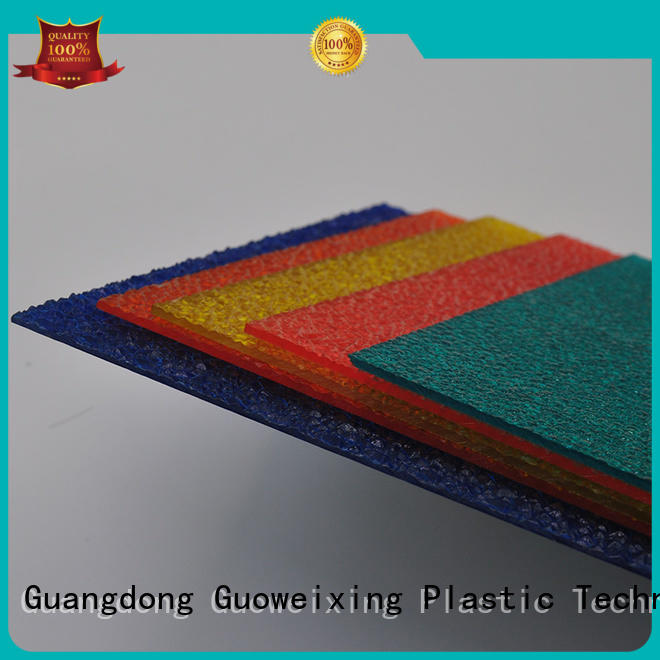 antiuv sheets thickness from GWX Brand polycarbonate embossed sheet supplier