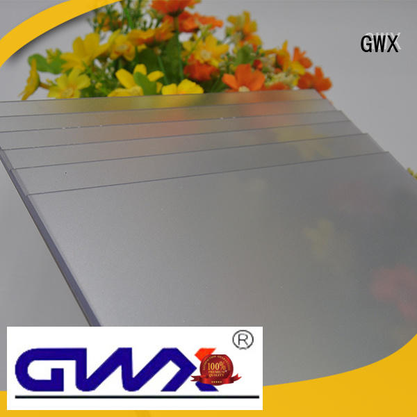 GWX anti-scratch frosted acrylic sheet manufacturer for wall barrier