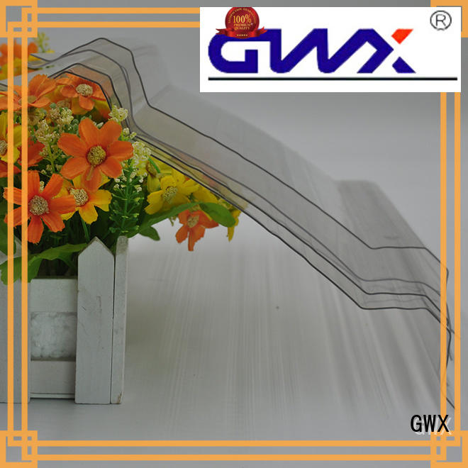 GWX multi-color corrugated polycarbonate panels supplier for corrugated roof