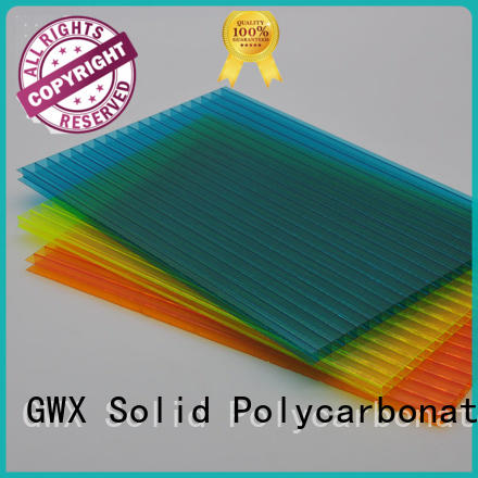 GWX uv protective pc sheet price honeycomb for Gazebo