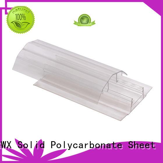 H shape polycarbonate h channel L shape for connection GWX
