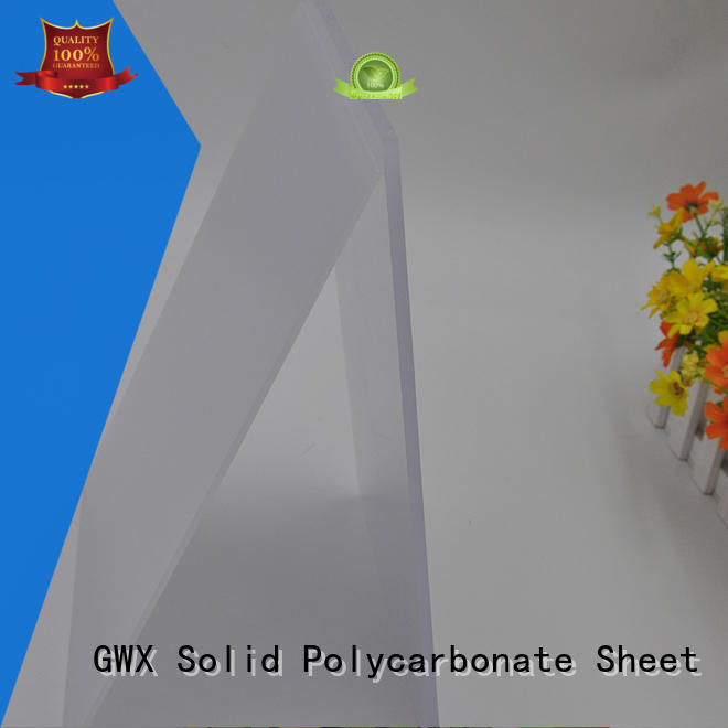 GWX 100% new virgin material light diffusion polycarbonate sheet wholesale for greenhouse