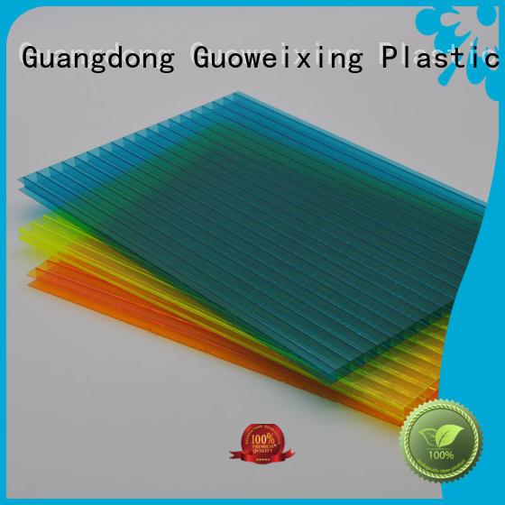 GWX Brand balcony sheets single polycarbonate hollow sheet